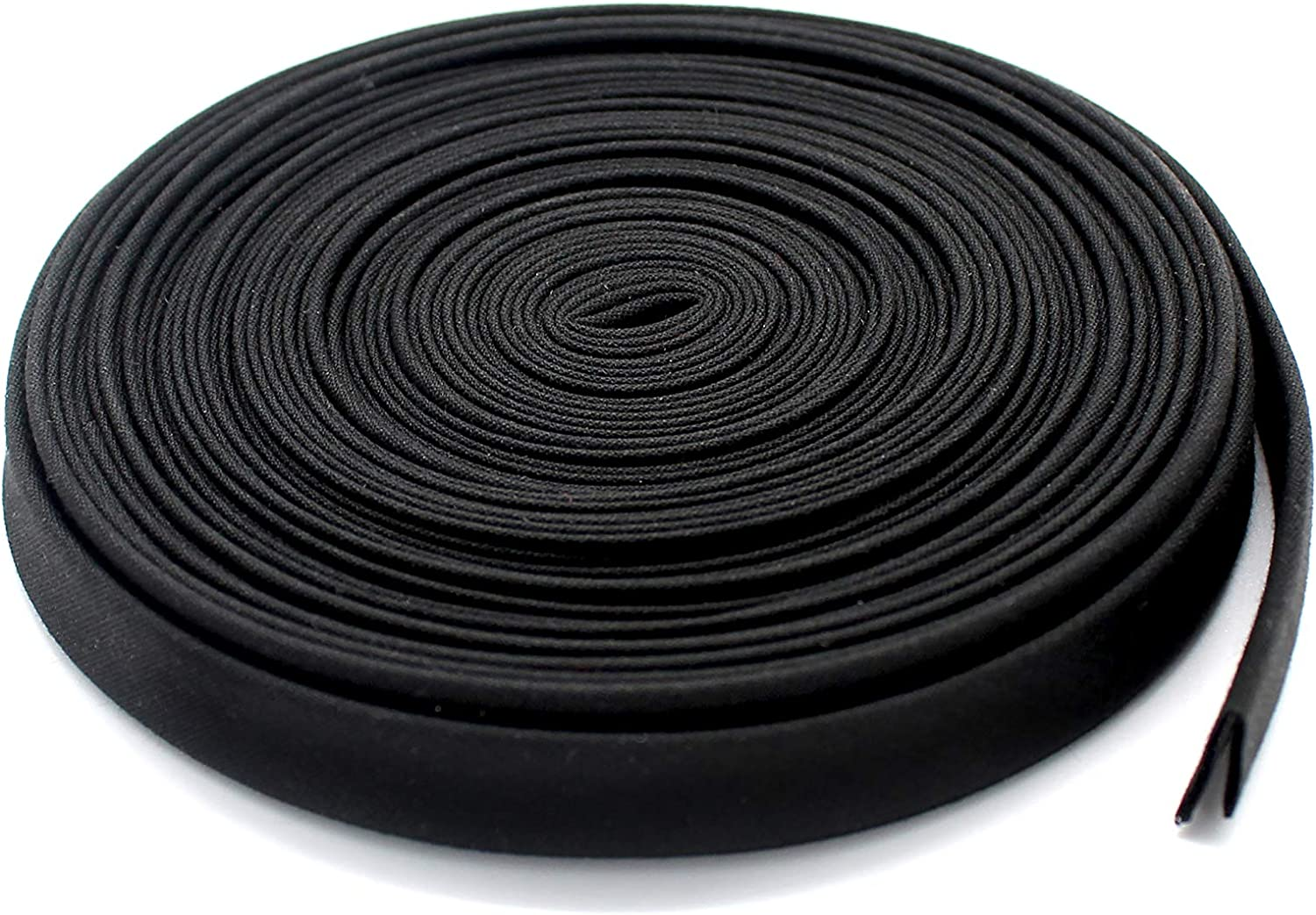 "1/2"" Wide Double-fold Bias Tape ~ Poly Cotton (10 Yards, Black) 81QF9SpD7HL"