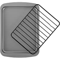 OvenStuff Non-Stick Personal Size Cookie Pan with Non-Stick Cooling Rack