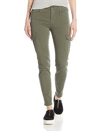 e439f8e20a18e2 Amazon.com: Vince Women's Skinny Cargo, Army Denim, 29: Clothing