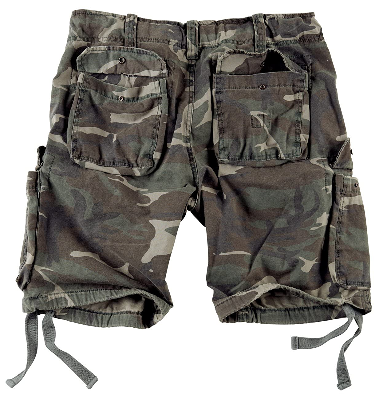 Surplus Mens Airborne Vintage Shorts Washed Woodland