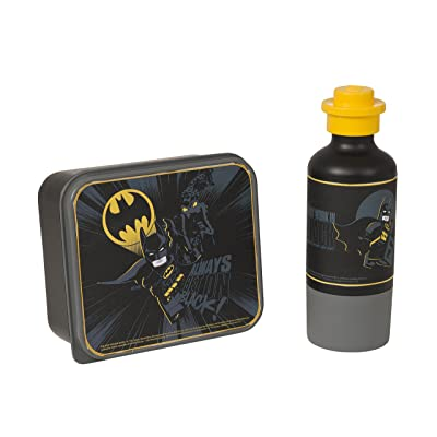LEGO Batman Lunch Set, Lunch Box and Drinking Bottle - Black, 2-Piece: Kitchen & Dining