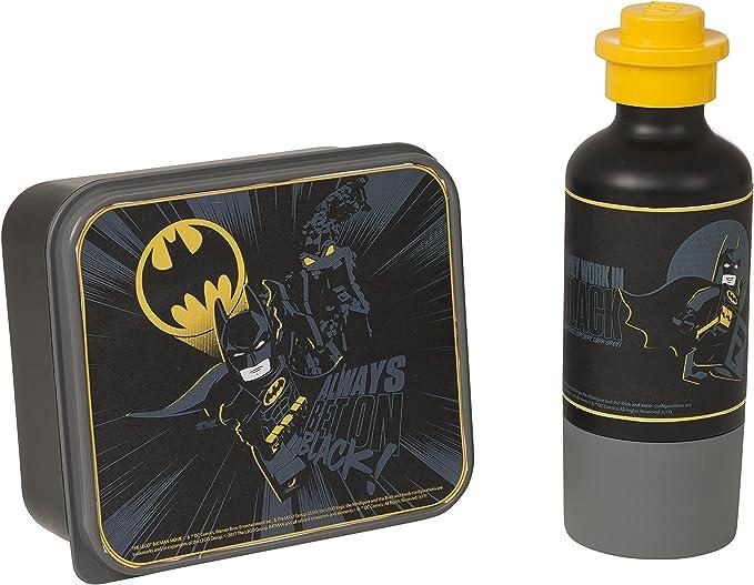 LEGO 4059 Set Batman, Caja de Almuerzo y Botella, Negro, PP PE, Black, 20.1 x 6.7 x 19.2 cm, 2: Amazon.es: Hogar