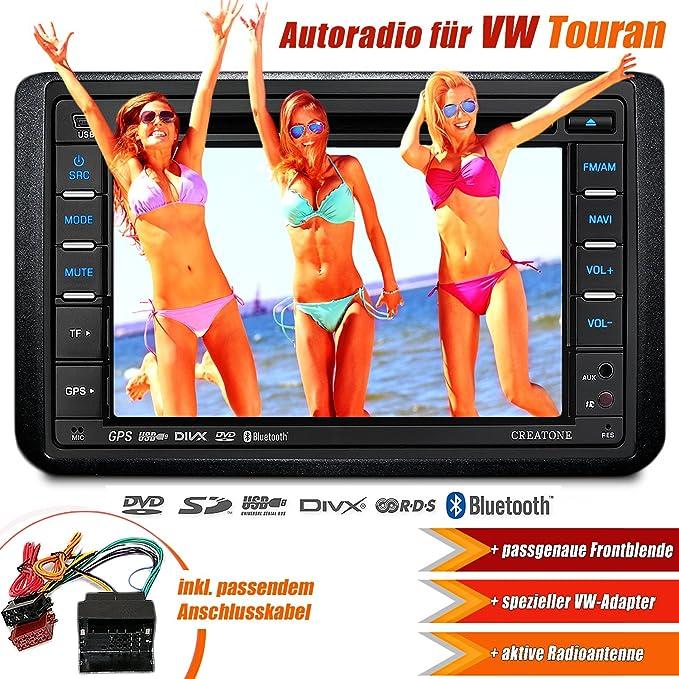 2DIN radio de coche SD CTN 8173d26 para Volkswagen Touran (2003 ...
