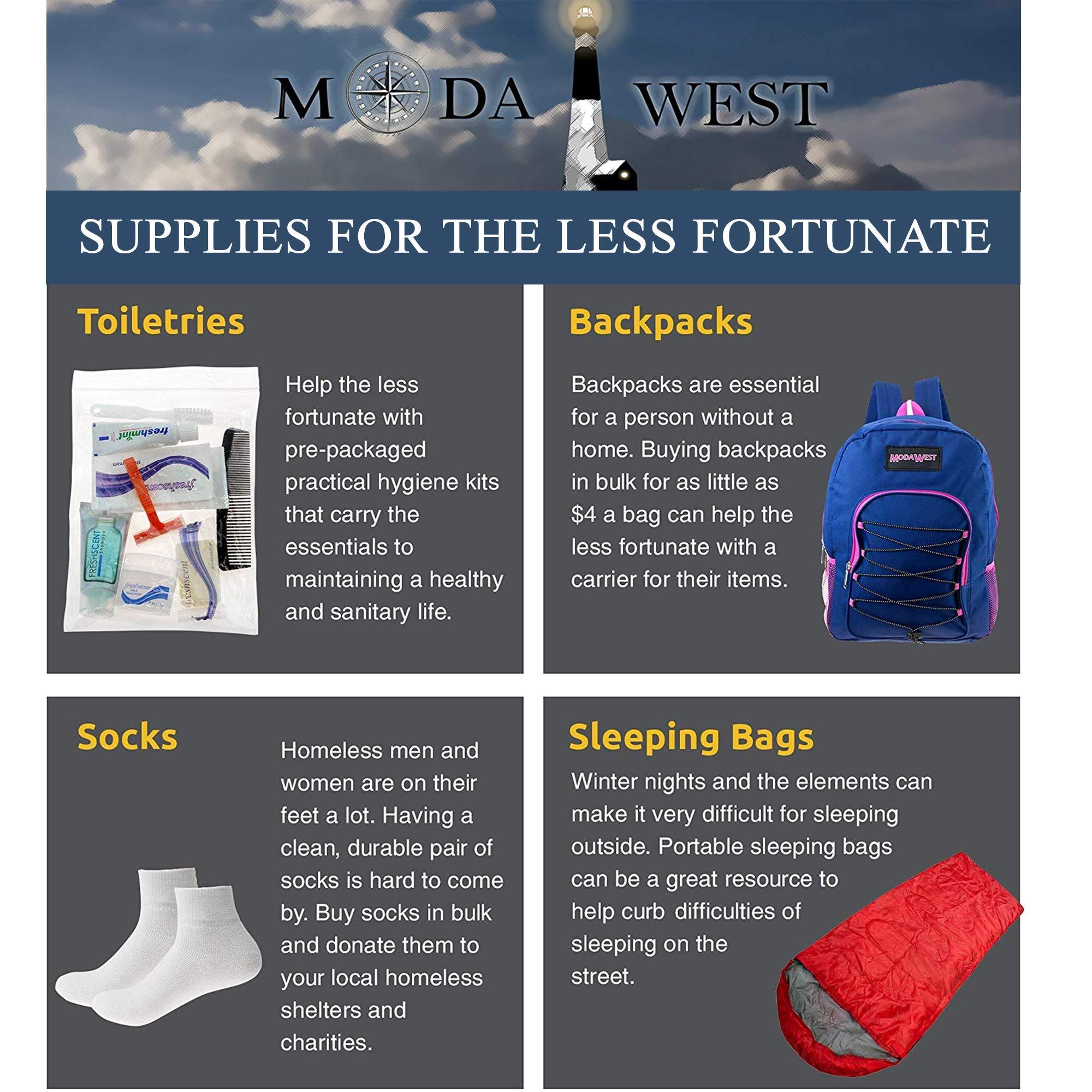 48 Kits - Bulk Case of Wholesale Deluxe 15 Piece Hygiene & Toiletry Kit for Men, Women, Travel, Charity by Moda West (Image #9)