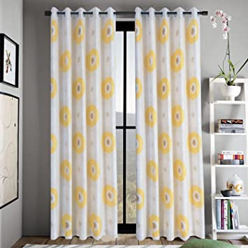 Amazon yellow flower curtains for living room anady top 2 yellow flower curtains for living room anady top 2 panel bright flower decro curtains livingroom mightylinksfo