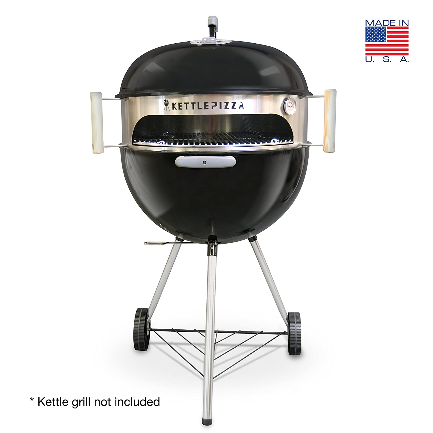 amazon com made in usa kettlepizza basic pizza oven kit for 18 5