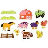 ALEX Toys Rub a Dub Stickers for the Tub - Farm