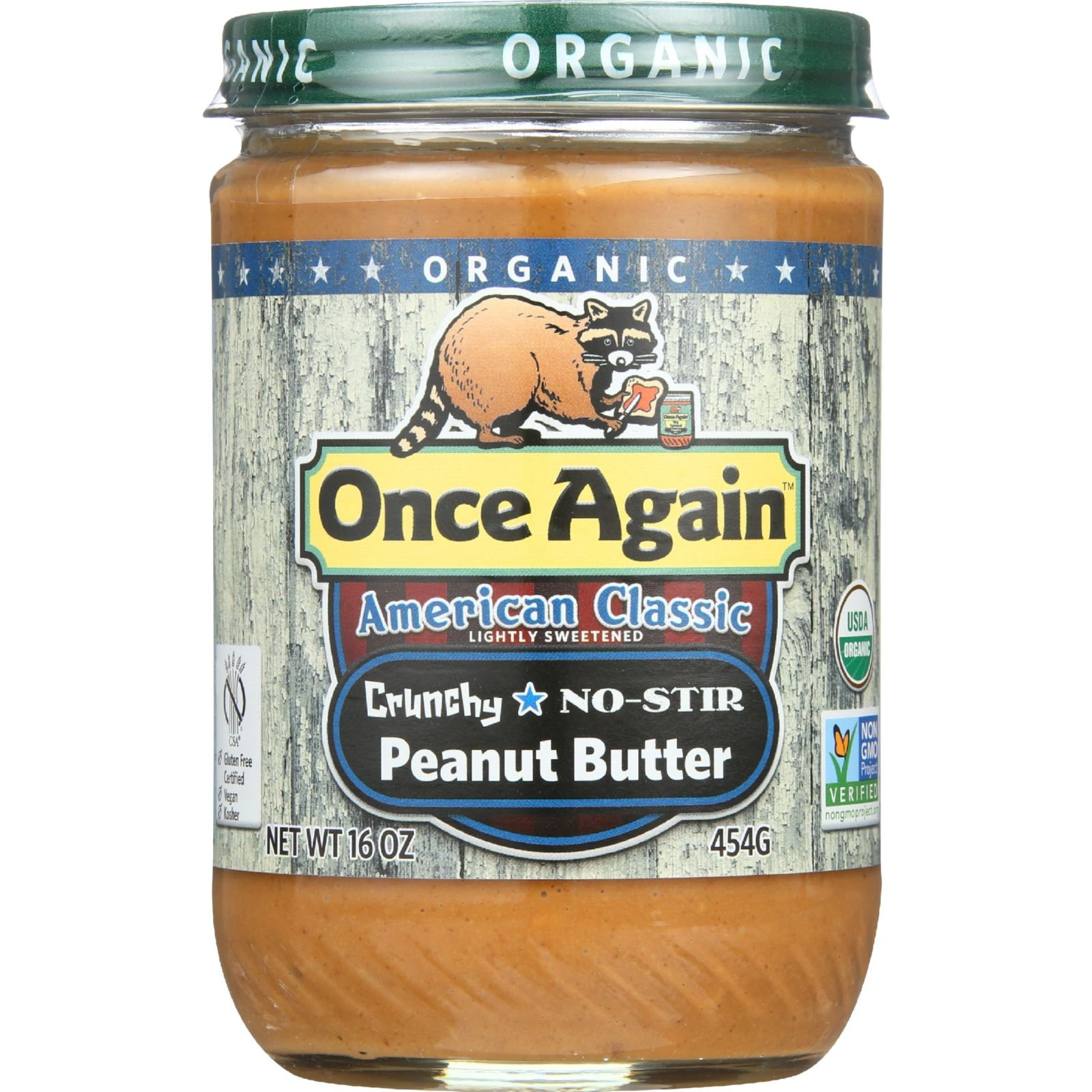 Once Again Peanut Butter Classic Crunchy Or, 16 oz