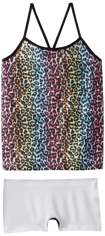 Rainbow Leopard Print Spunderwear Big Girls  Cami Tank and Boyshort Set