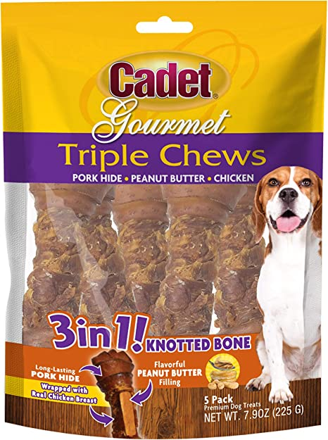 Rawhide Knot Bones with Porkhide Tasty Dog Chews Treats  Chew Bacon Beef Chicken