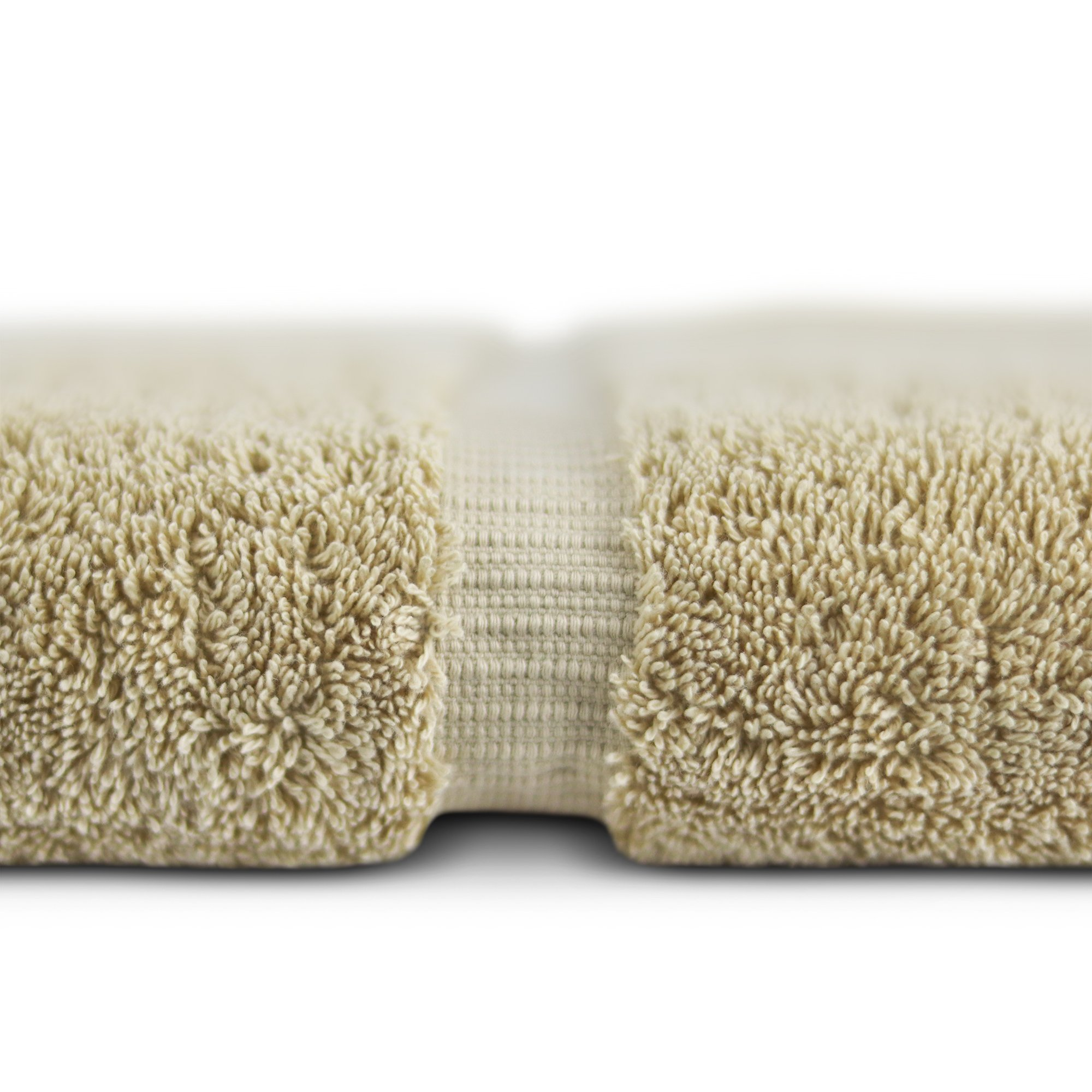 Towel Bazaar Premium Eco-Friendly 100% Turkish Cotton Hand Towel Set of 4, Multipurpose Bathroom Towels for Hand, Face, Gym and Spa (16 x 30 inches, Driftwood) by Towel Bazaar (Image #3)