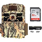 Browning Dark Ops HD MAX (2020) Trail Game Camera Bundle Includes 32GB Memory Card and J-TECH Card Reader (18MP) | BTC6HDMAX