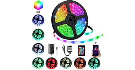 Ylcvbud 16.4-Foot RGB LED Strip Lights only $9.89