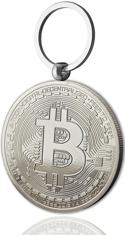 Moneda Física de Bitcoin como llavero Chapado en Oro de 24 Quilates. Una adquisición obligada para todo fanático del Bitcoin