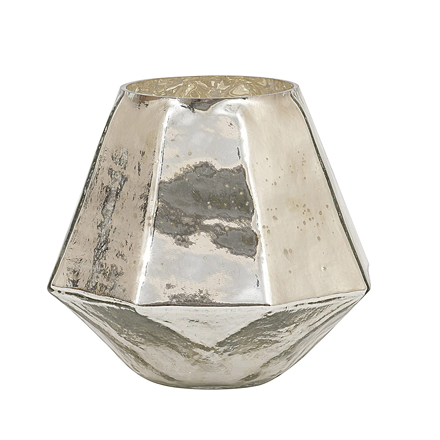 Mercury glass hexagon candleholder