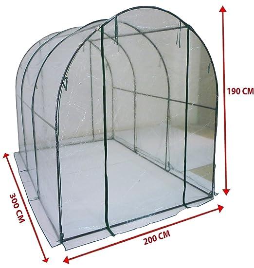 6 opinioni per Serra a tunnel da giardino copertura per orto piante e fiori 200x300h190