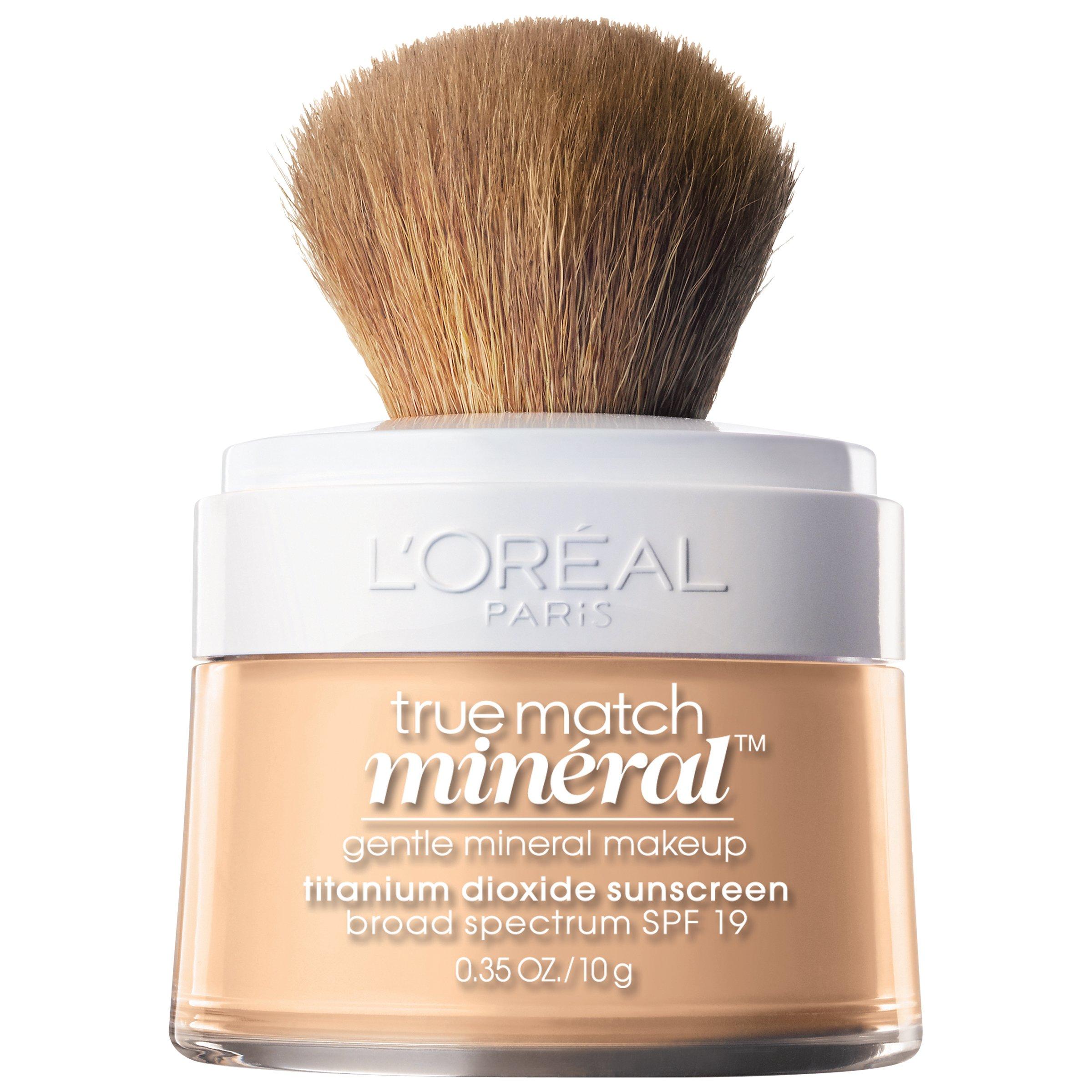 L'Oréal Paris Makeup True Match Loose Powder Mineral Foundation, Light Ivory, 0.35 oz.