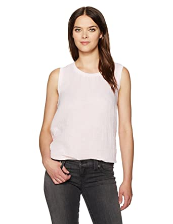 44590af274 Amazon.com  Michael Stars Women s Double Gauze Crew Neck Hi Low Tank   Clothing