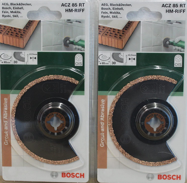 2 St/ück BOSCH OIS Segment S/ägeblatt 85 mm ACZ 85 RT HM-RIFF 2609256952 Tauchs/ägeblatt f/ür Multifunktionswerkzeuge