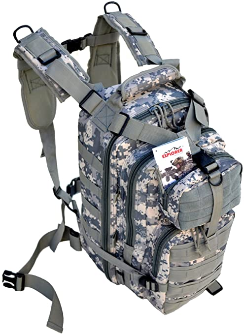 5453ae038b3e Explorer Military Tactical Backpack Army Assault Pack Molle Medic Bug Out  Hydration Assault Rucksack Outdoor Sport Travel Trekking Hiking Camping ...