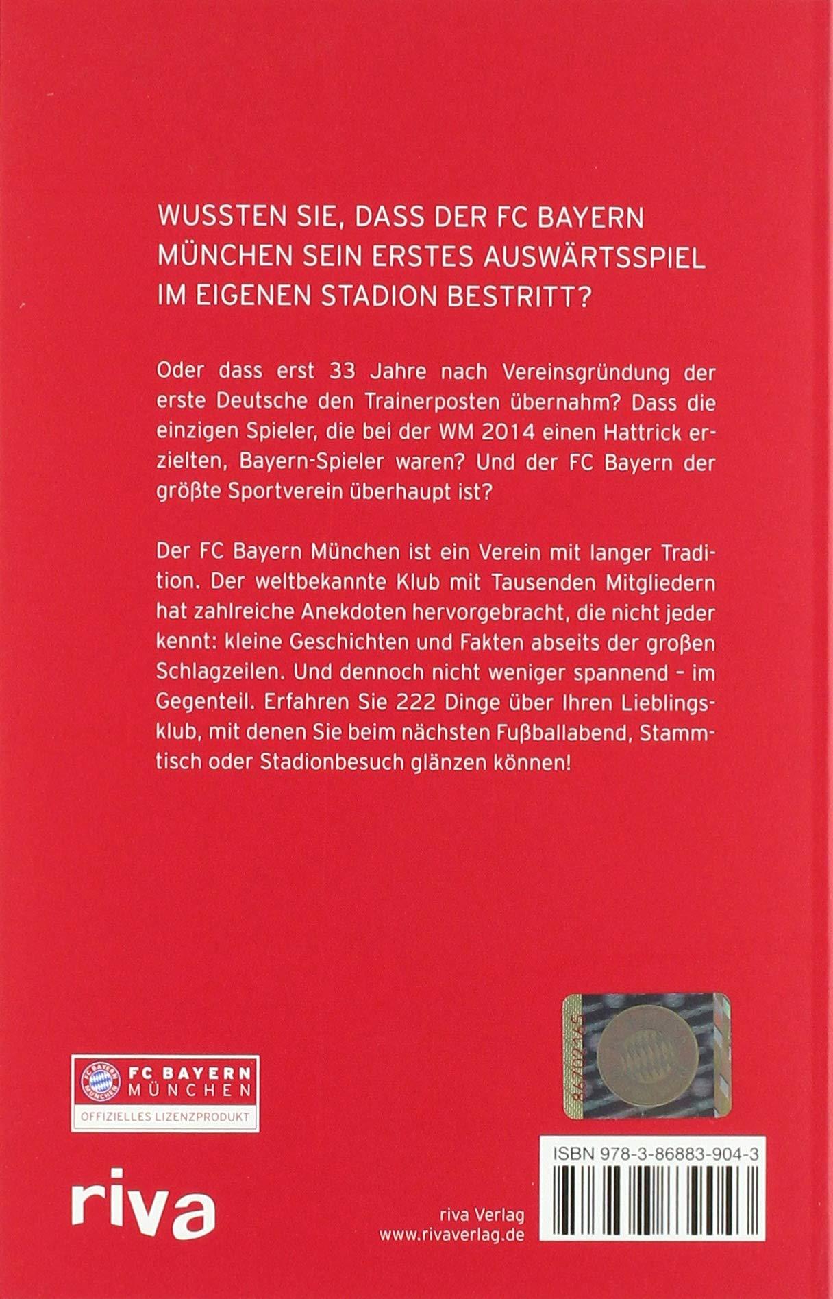222 Dinge Die Sie Bisher Noch Nicht über Den Fc Bayern