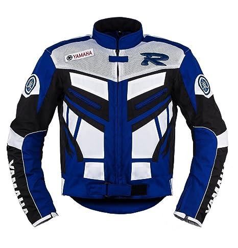 Yamaha Racing Azul Moto Chaqueta de Textil ((L (EU52-54))