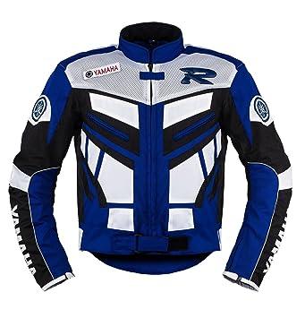 Yamaha Racing Azul Moto Chaqueta de Textil ((L (EU52-54)))