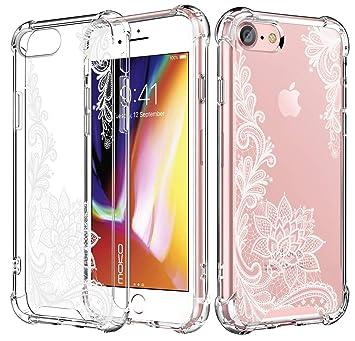 MoKo Compatible con iPhone 7 Funda/iPhone 8 Funda, Choque-Absorbente Cubierta Resistencia a Arañazos Protector con Transparente Dura Carcasa de TPU ...