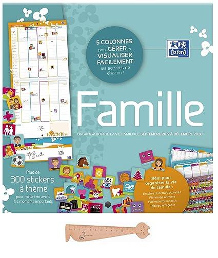 Calendrier Eboueur 2020.Lot Calendrier Familial Septembre 2019 Decembre 2020 Famille