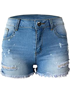 William Rast Womens Plus Embroidered Studded Denim Shorts at ...