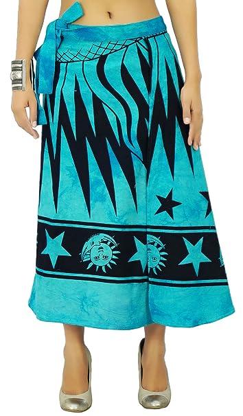 Impreso falda de algodón Tela mágica del abrigo reversible Hippie: Amazon.es: Ropa y accesorios