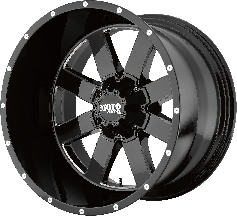 Wheel Tire -24 mm MOTO METAL MO962 GLOSS BLACK MILLED MO962 20x10 6x135.00 GLOSS BLACK MILLED