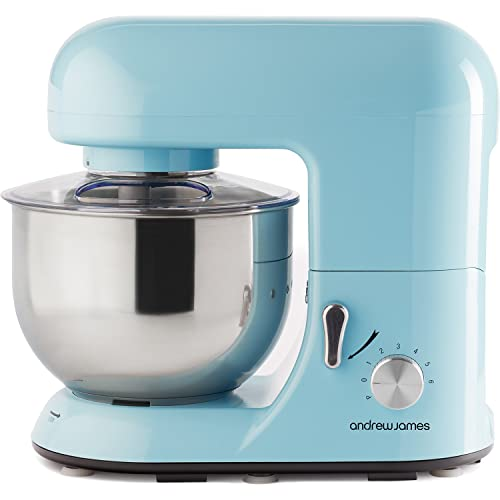 Andrew James Electric Food Stand Mixer In Pastel Blue