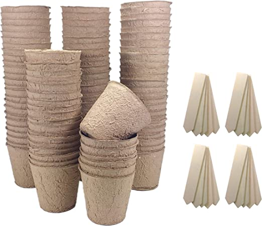 Britten and James Macetas de Semillas biodegradables de 8 cm ...