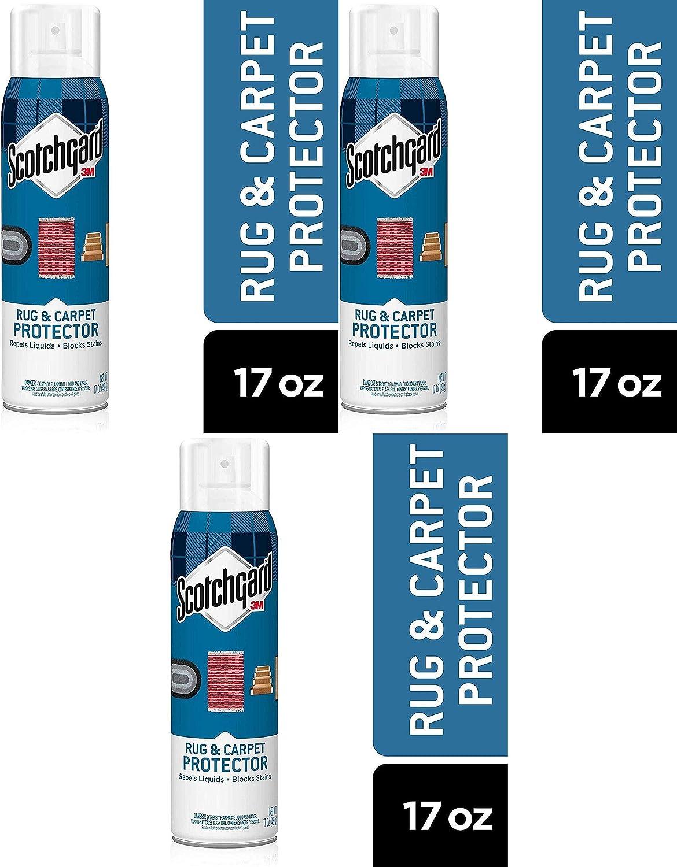 Scotchgard Rug & Carpet Protector, Repels Liquids, Blocks Stains, 17 Ounces Pack of 3