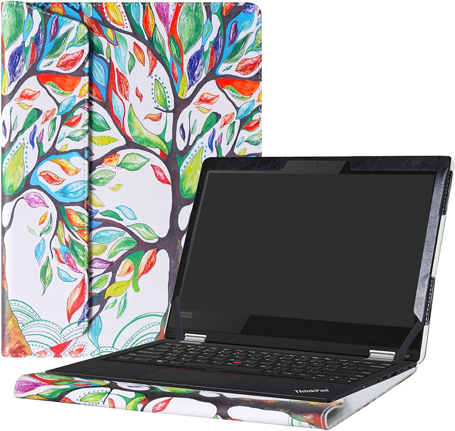 "Alapmk Protective Case Cover For 13.3"" Lenovo ThinkPad L380 Yoga/L390 Yoga/ThinkPad L380 L390 & Lenovo ThinkPad 13 Chromebook/ThinkPad 13 Series Laptop(Warning:Not fit Other model),Love Tree"