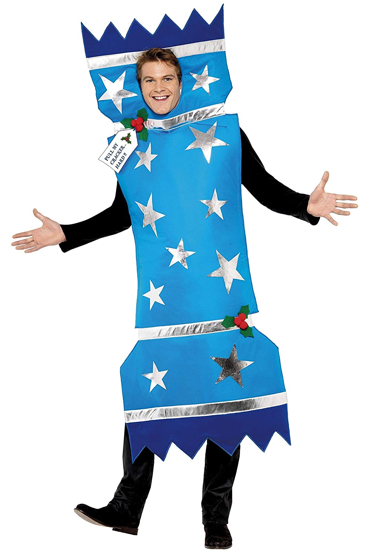 Smiffys Men's Blue Christmas Cracker Costume - Chest 38