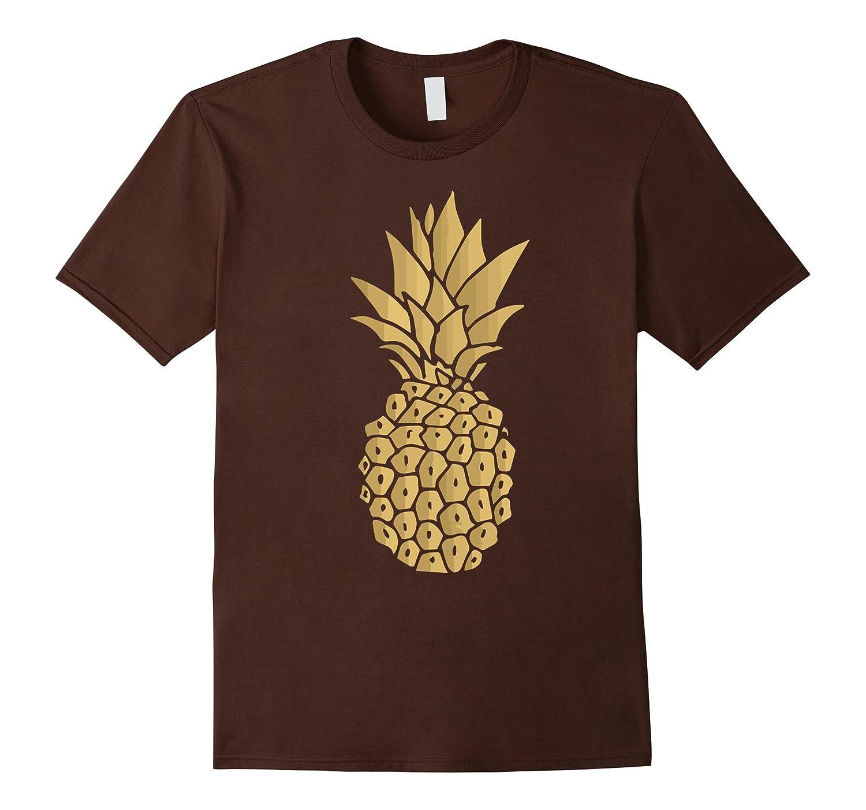 Gold Pineapple Shirt Funny Hawaii Shirt For Men-T-Shirt