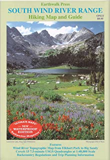 Southern Wind River Range Hikng Map