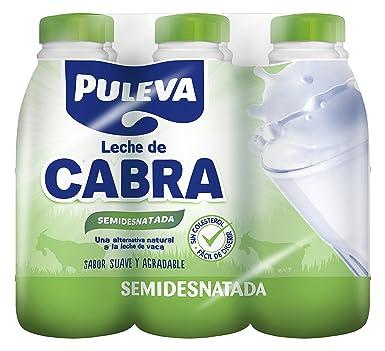 Puleva Leche Semidesnatada Cabra - Pack 6 x 1 L - Total: 6 L