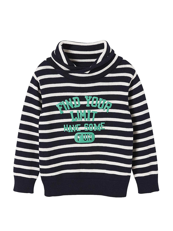 Vertbaudet Jungen Pullover mit Stehkragen: : Bekleidung