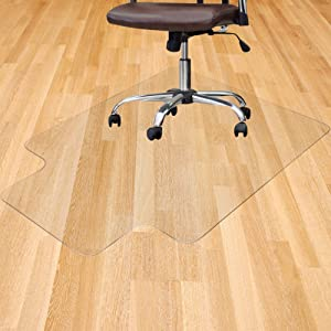 "Office Chair Mat for Hardwood Floor 36"" x 48"" Chair Mat Protector with Lip for Hard Floors, Thick Clear Computer Desk Mats Covering Protection for Office Home Chairmats"