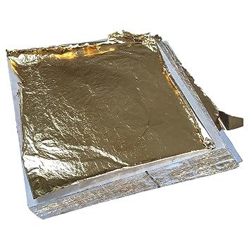 100x BLATTGOLD ANTIK 14x14cm U2013 PREMIUM Blatt Metall Gold Hochglänzend U2013 Zum  Vergolden Basteln Verschönern