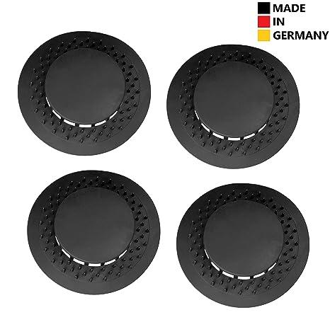 Abfluss UFO 4er Set, 80 mm Silikon Abflusssieb, Made in Germany, passt auch für Viega Tempoplex