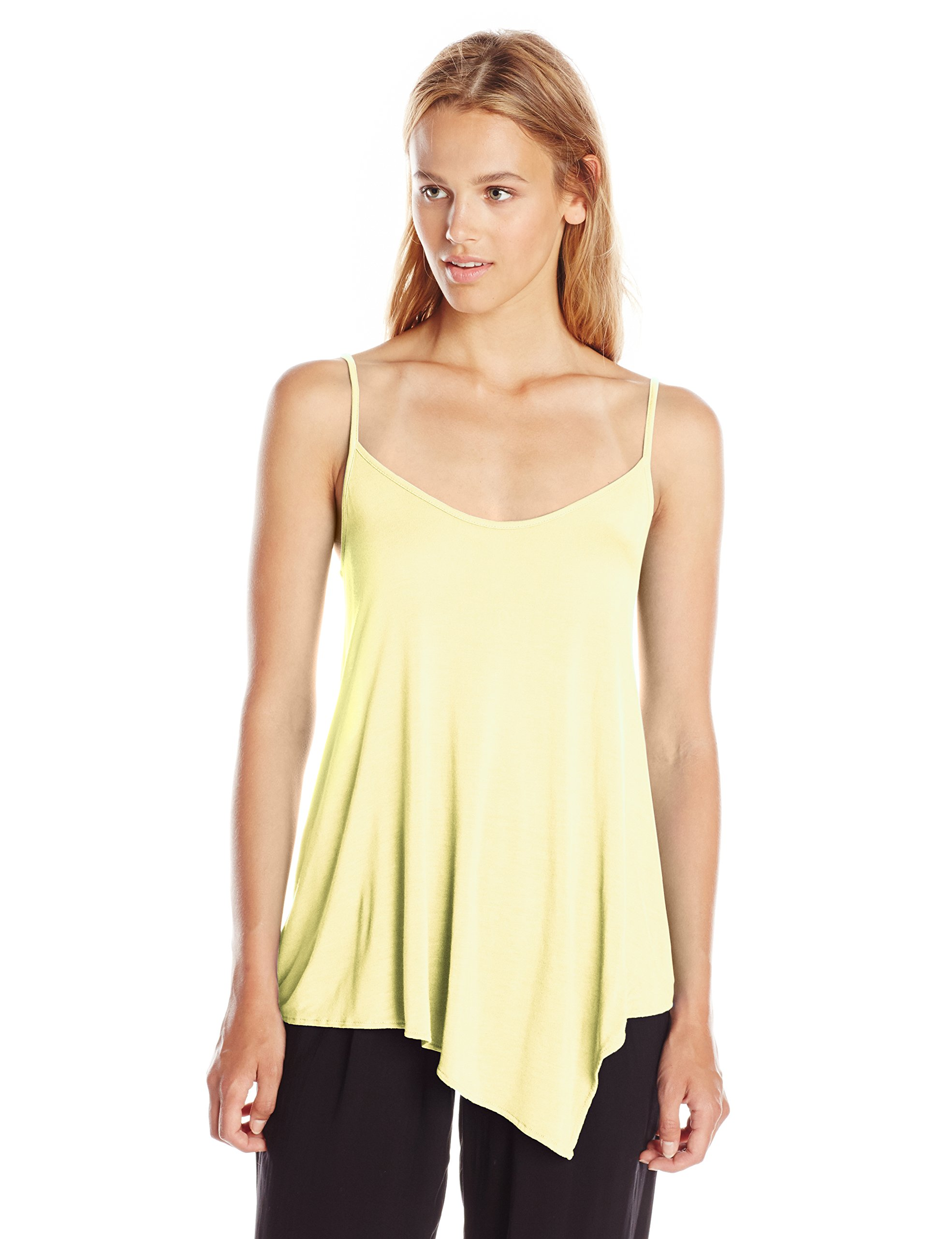 Michael Stars Women's Micro Modal Asymmetrical Cami Top, Tart, Medium