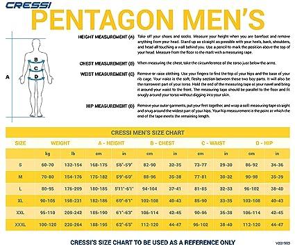 Cressi Pentagon Man 5mm, X-Large