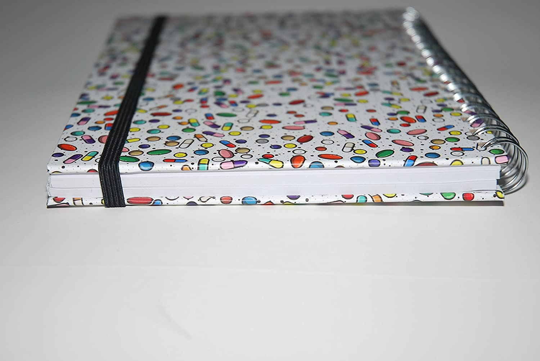Medinc capsule farmaci farmacologia Quaderno A5 con copertina ad anelli con 200 pagine Ideale regalo per lorganizzatore del diario o la laurea infermiera
