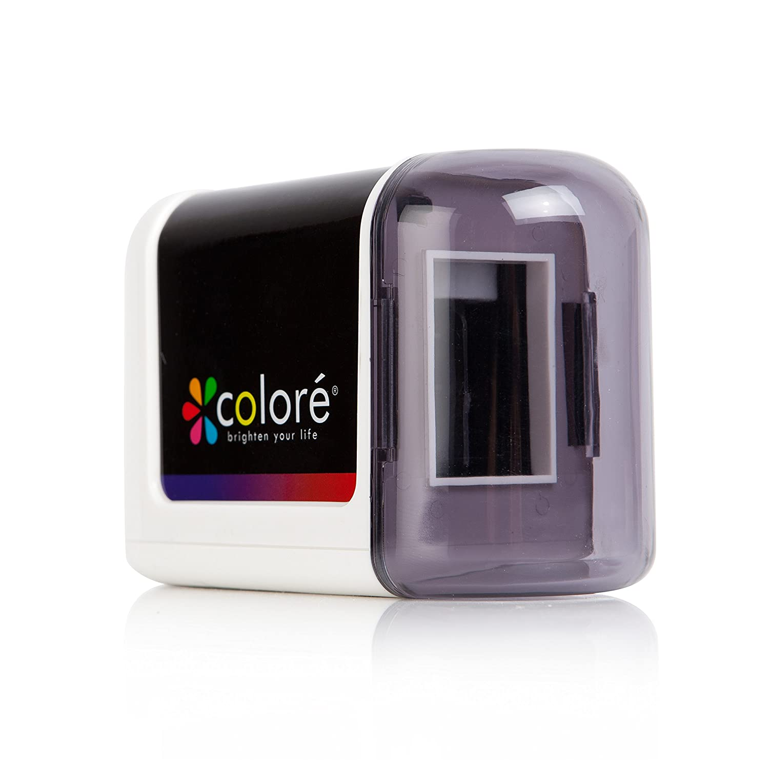 Colore Electric Pencil Sharpener - Powerful, Small, Battery Operated Heavy Duty, Safe Sharpeners for Kids, School, Office Colore Art
