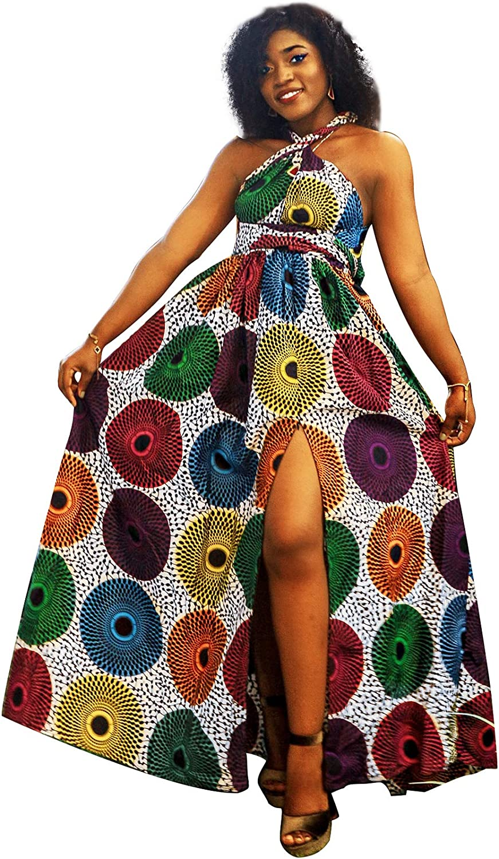 Shenbolen Women African Print Maxi Dress Dashiki Long Dress