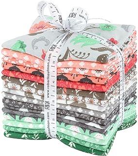 Penned Pals Flannel Fat Quarter Bundle 10 Precut Cotton Fabric Quilting FQs Assortment Mint Colorstory by Ann Kelle for Robert Kaufman